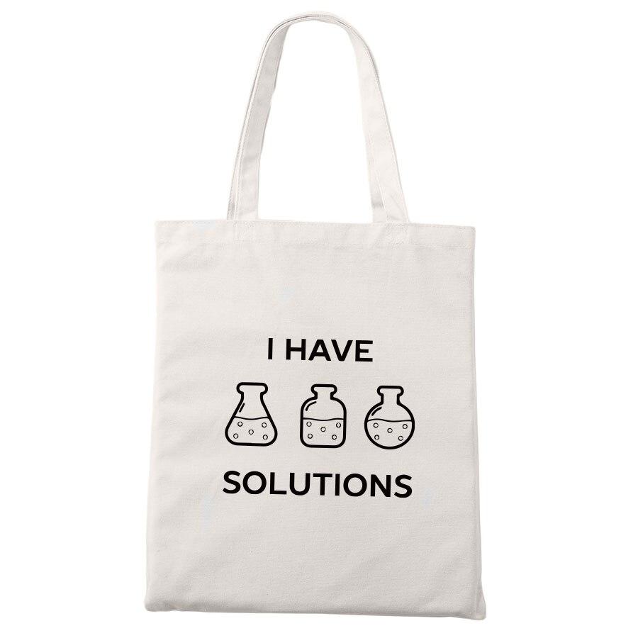 化学トートバッグキャンバス私が作ったジョーク科学ユニセックスファッション旅行収納袋面白いオタクショッピングバッグトートバッグ