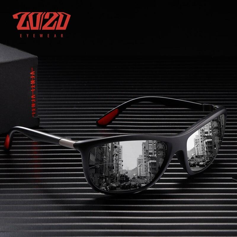 Gafas de sol polarizadas de diseño de marca 20/20 para hombre, gafas de sol de conducción para mujer, gafas de viaje cuadradas de moda para hombre, Oculos PL345