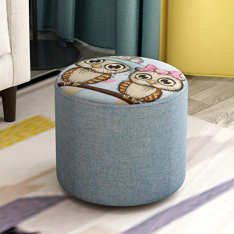 Ottoman Storage  Stool  Nordic Round Round Pouffe  Pouf Kids Furniture Pouf  Bench Foot Stool 27cm