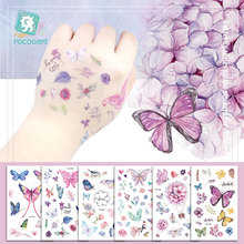 12x7.5CM/Watercolor Butterfly Temporary Tattoo Sticker Waterproof Women Fake Tattoos Children Body Art Hot Design Fashion.