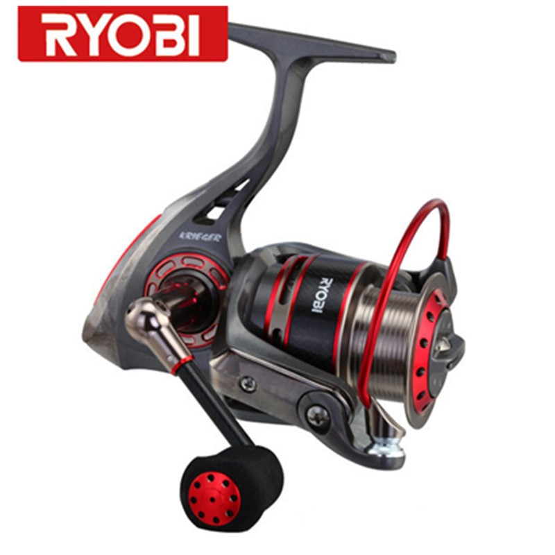 цена на RYOBI KRIEGER  7BB Spinning Reels 5.0:1 5.1:1  Drag power 2.5-5kg Fishing Reel De Pesca Moulinet Peche en Mer