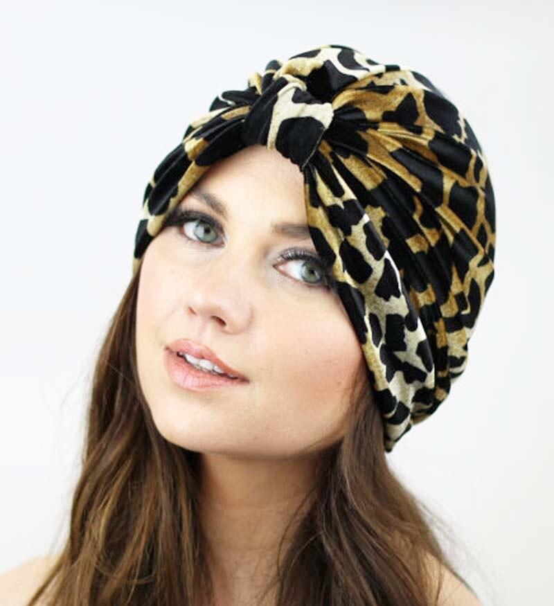 ᗜ LjഃInvierno estilo mujeres lujo estiramiento turbante sombrero ...