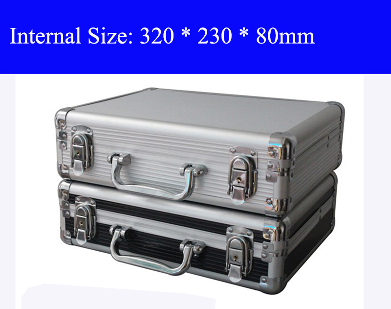Aluminum Tool case suitcase toolbox File box Impact resistant safety case equipment camera case with pre-cut foam shipping free travel aluminum blue dji mavic pro storage bag case box suitcase for drone battery remote controller accessories