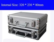 Алюминий инструмент случае чемодан Toolbox коробке файла ударопрочный безопасности случае оборудование корпус камеры с нарезанные пены доставка бесплатная
