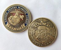 USMC Devil Dogs United States Marine Corps Challenge Coin, Bronze Commemorative EST.1775 Round coins, DHL free shipping 50/100pc