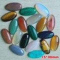Comercio al por mayor 20 unids/lote clasificada manera beads15x30mm Piedra natural forma oval cab cabochons para Accesorios de La Joyería envío gratis