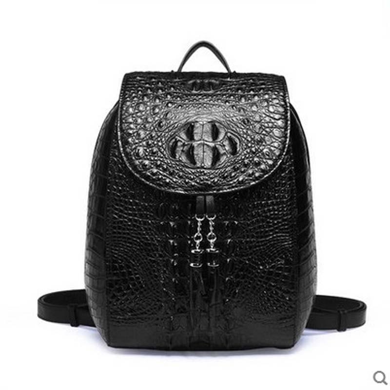 2018 yuanyu Crocodile leather bag of leather imported Thai crocodile leather backpack large capacity of crocodile skin yuanyu new alligator long female bag real crocodile leather high end imported large women clutches