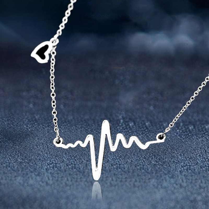 Новый модный стиль электрокардиограмма сердцебиение ожерелье подарок для врача медсестры пожарный парамедик медицинские подарки