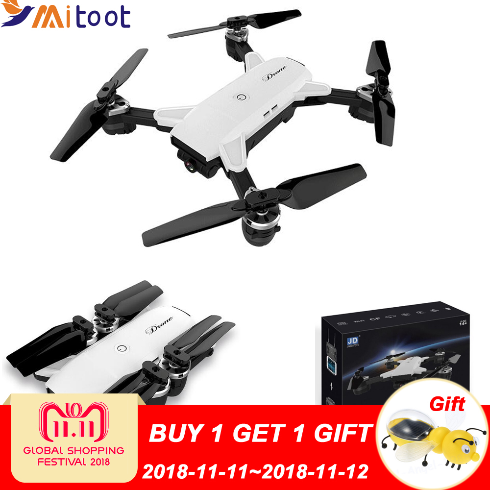Drones with camera hd JD-20 JD20 WIFI FPV With 2MP Wide Angle Camera High Hold Mode Foldable Arm RC Quadcopter RTF Selfie Drone цена и фото