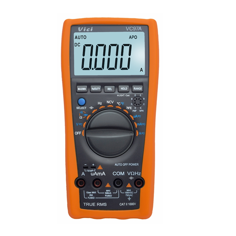 Quality Digital Multimeter Auto Range AC DC Ammeter Volt Ohm Meter LCD Tester