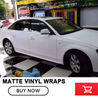 152cm x20m Matt Matte white Car Auto Body Sticker Decal car styling Self Adhesive Wrapping Vinyl Wrap Sheet Film