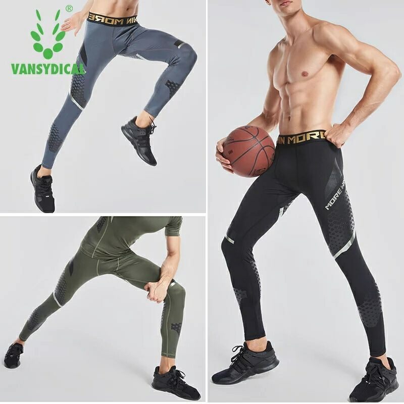 Sports leggings Running Pants Mens Gym Run Tights Fitness Crossfit Jogging Tight Long Compression Pants Slim Trousers
