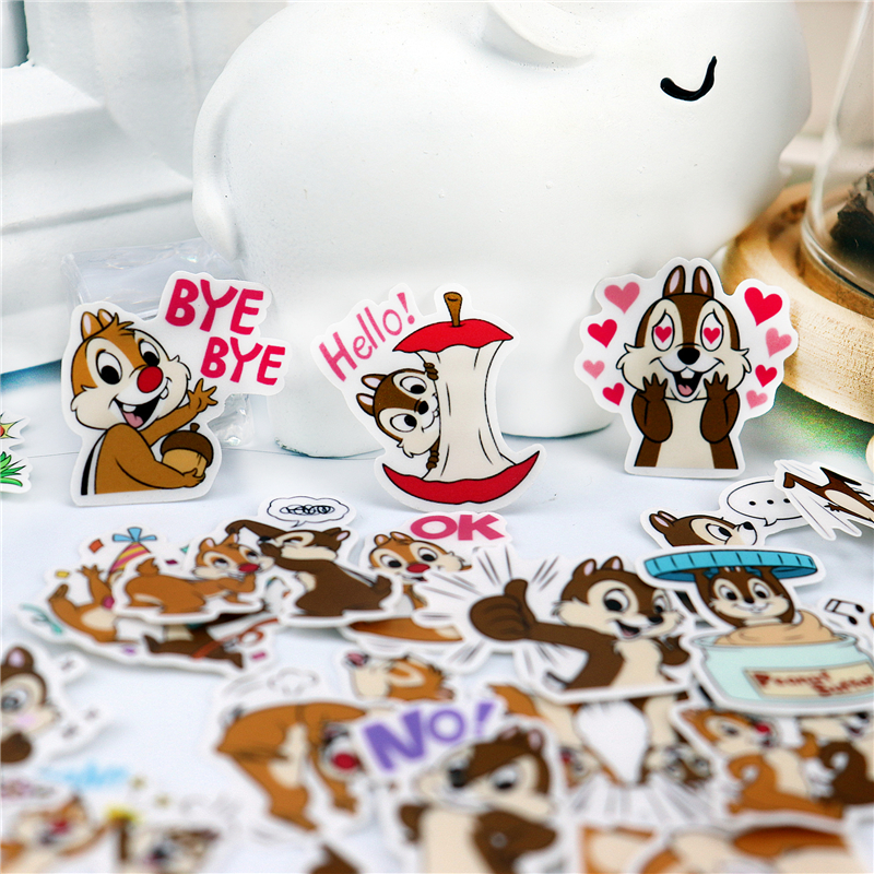40pcs Cute  Colorful Squirrel Brothers Stickers For Phone Laptop Moto Bicycle Wall Guitar/Eason Stickers/DIY Scrapbooking