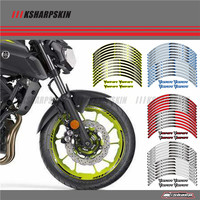 12 X Thick Edge Outer Rim Sticker Stripe Wheel Decals FIT YAMAHA MT07 MT 07