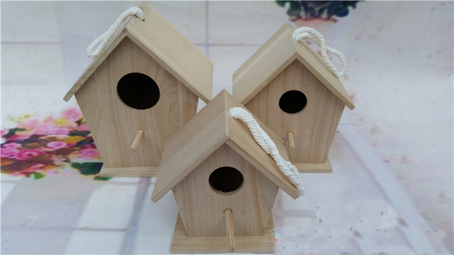 Outdoor Solid Wood Bird Cage Breeding Nest Parrot House Indoor And Out Door Gardening Home Decor