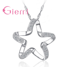 Elegant 925 Sterling Silver Square Crystal Pendant Necklace Chain for Women Wedding Jewelry Fashion Engagement Accessories