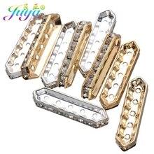 Juya 50pcs/lot Wholesale Metal Spacers Supplies DIY 2 3 5 Holes Spacer Bars Accessories For Beadwork Jewelry Making