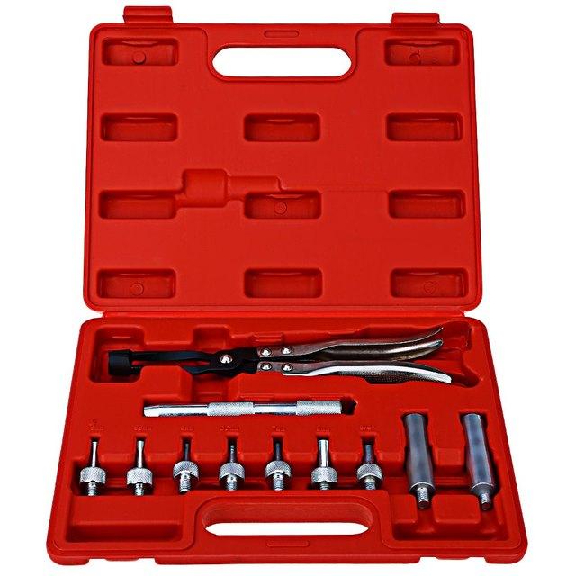 11pcs Valve Stem Oil Seal Removal Tool Installer Pliers Vehicle Car Garage High Quality CR - V Chrome-vanadium Steel Material