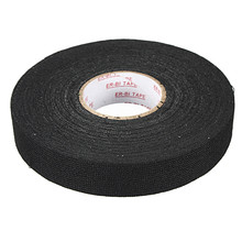 High Adhesive Force Black Wiring Loom Harness Adhesive Cloth Fabric Tape Cable Loom 20mmx25m Easy To Operate