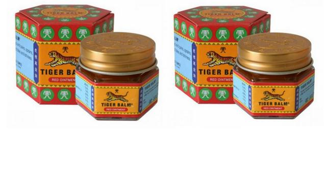 Super strength red Tiger Balm ointment for treating muscle pain and relieve the itching, stuffy nose headache ointment X 2Pcs white tiger balm ointment soothe insect bites itch strength pain relieving arthritis joint massage body care oil cream l37