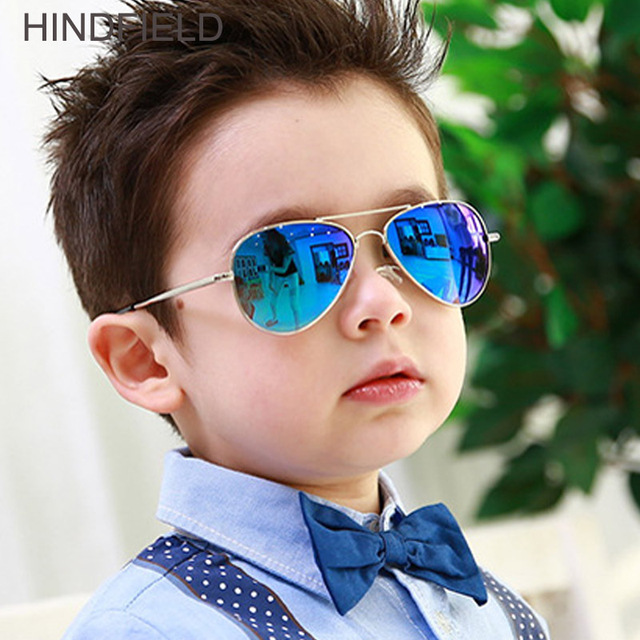 8ce14d6de04f 2018 New Kids Sunglasses Girls Boys Fashion Retro Pilot Children Sunglasses  Vintage Blue Mirror Sun Glasses Baby Eyewear UV400
