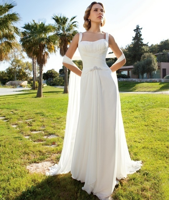 Vestido de novia 2017 Blanco Romántico de Novia Corto Tren Gasa Vestidos De Noiva Curto Robe de Mariage Vestidos de Precios En Euros