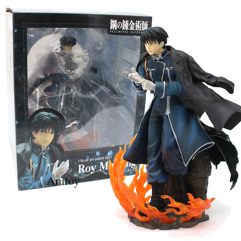цена на Anime Fullmetal Alchemist Roy Mustang 1/8 Scale Pre-Painted Figure PVC Collectible Model Toy 21.5cm