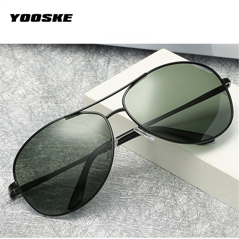 0dc3c31277 YOOSKE Brand Polarized Sunglasses Men Women Driving Driver Sun Glasses  Vintage Rectangle Anti-UV Goggles