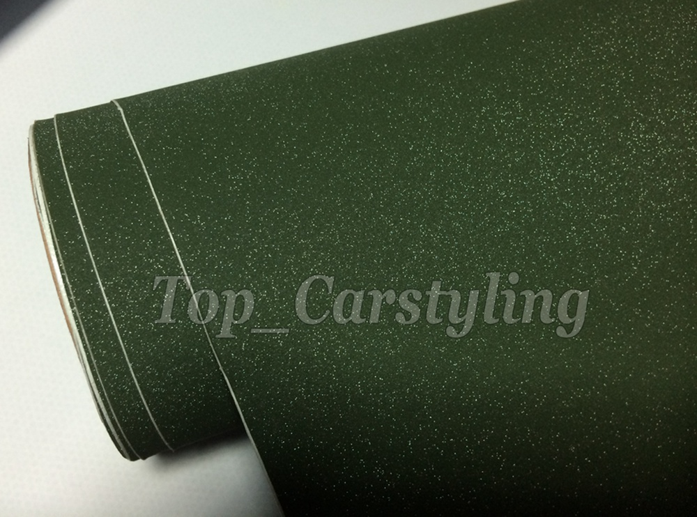 army green matte sandy glitter frosty car wrap film apa 3m (2)