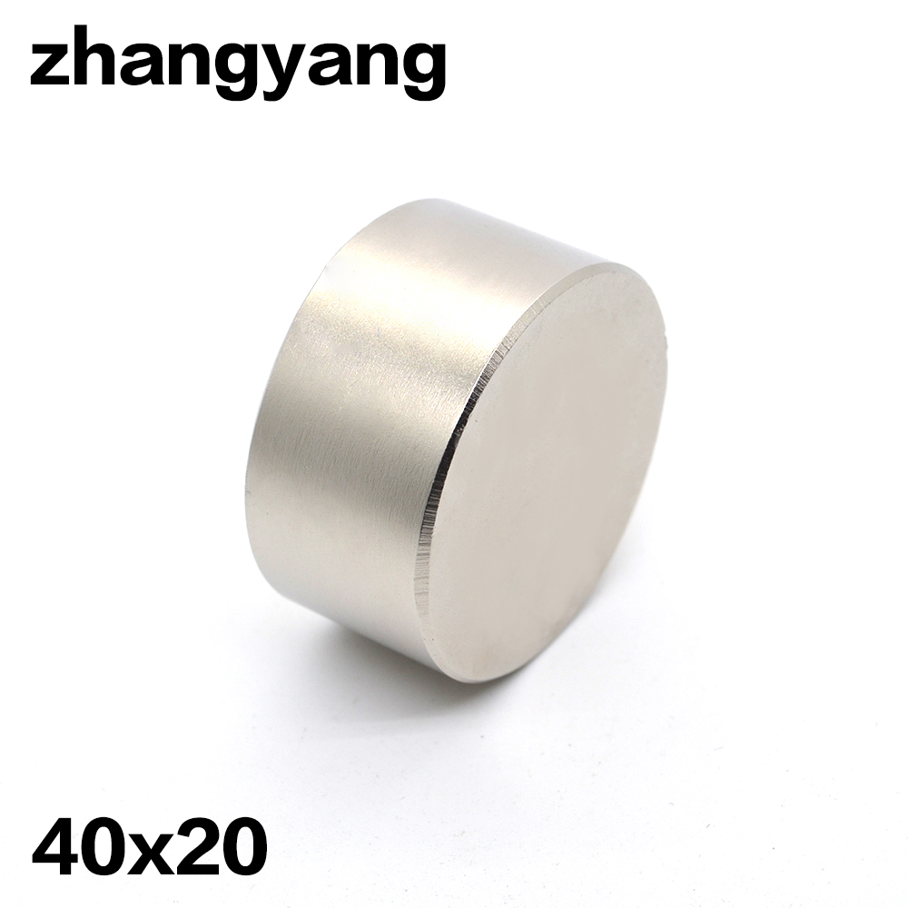 2pcs Neodymium magnet 40x20 mm gallium metal super strong magnet 40*20 Neodimio magnets water meters speaker electromagnet trouble magnet 2