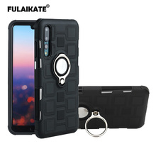 FULAIKATE Ice Cubes Anti-knock Case for Huawei P20 Pro Ring Stand Back Cover P20Pro Business Soft Phone Protective Cases