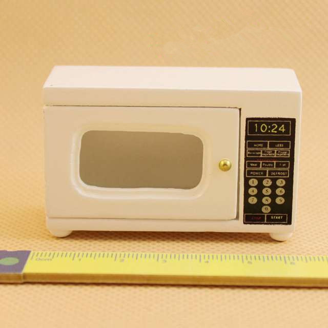 1 12 Cute Mini Dollhouse Miniature Microwave Oven