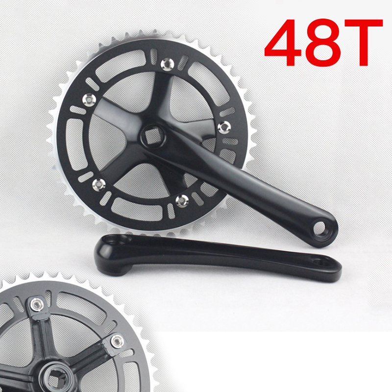 Fixed Gear Single Speed Road Bike Folding Bicycle Chain Wheel 48T 170mm Cycling Track Crankset Cranks Aluminum alloy Accessories 1pcs magnesium alloy single speed fixed gear bike wheels 700c road racing venues inch wheel bicycle accessories