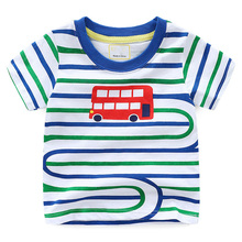 2019 Boys T-shirt Kids Clothes Summer Tops Striped Koszulka Tee shirt Enfant t shirt Costumes Tshirt Baby Boy Clothes T-shirts