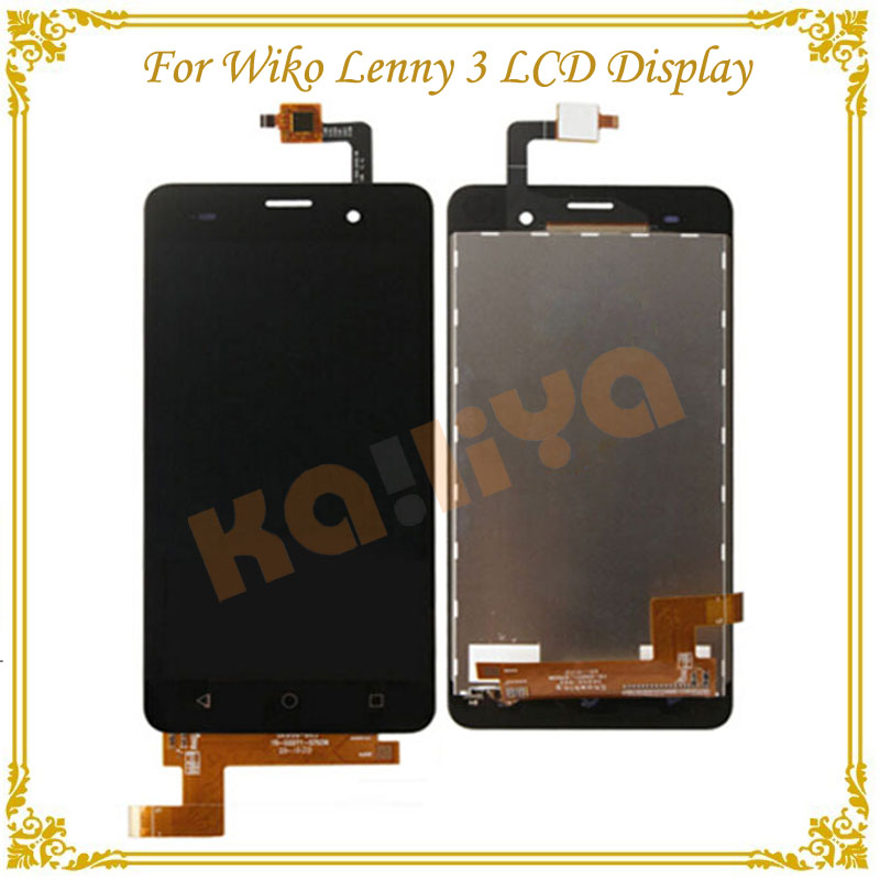 High Quality Black Touch Screen For Wiko Lenny 3 Digitizer Panel Sensor Glass Lens +LCD Display Smartphone Assembly  high quality for fly iq4417 touch screen lcd assembly digitizer sensor front glass lens panel free shipping black white