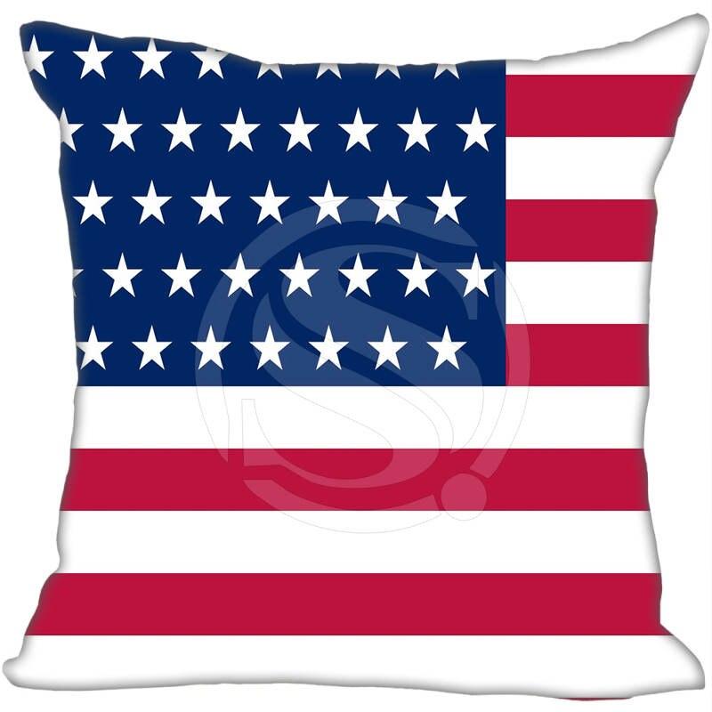 ①Vente chaude Personnalisé Angleterre drapeaux Américains Taie D