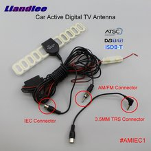 Liandlee 2IN1 Car TV & Radio Antenna FM IEC 3.5mm TRS Connector With Amplifier Booster AM RDS DVB-T ISDB-T ATSC ANT #AMIEC1