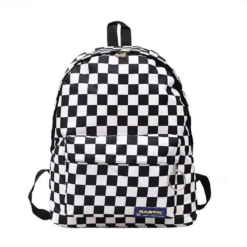 2019 venda quente dos homens das mulheres unisex treliça mochila nova tendência xadrez adolescente saco de escola casais pacote de volta saco de viagem