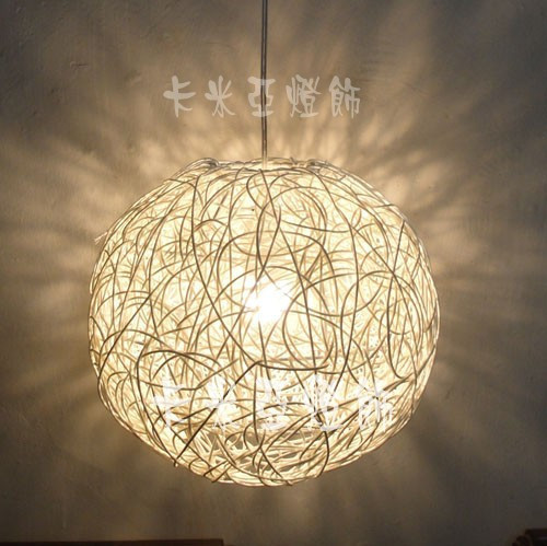 led restaurant lights bedroom lamp rustic rattan ball dining room pendant light