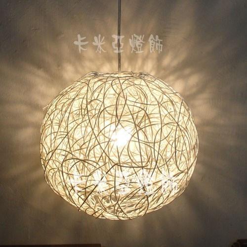 leidde restaurant verlichting slaapkamer lamp rustieke rotan bal ...