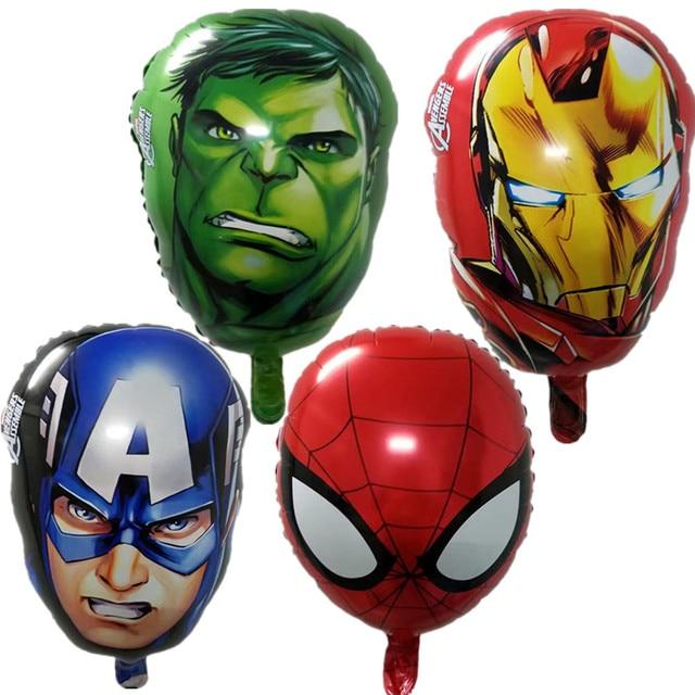 Balões folha super herói The Avengers brinquedos do bebê superman batman homem de Ferro hulk Capitão América homem-aranha balão de hélio