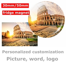 10pcs personalized fridge magnet souvenir 3d Photo people letters logo custom sticker magnetic Refrigerator Decoration wholesale