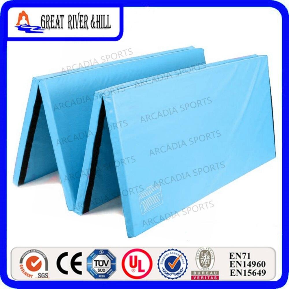 Water Blue EPE Foam Folding Gym Mats 2.4mx1.2mx3cm Gymnastics Mat смесители blue water в киеве
