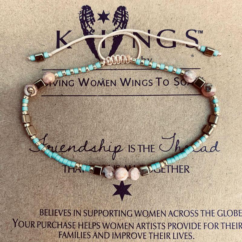 Miyuki Handmade Bracelet For Women Pink Natural Stone Crystal Seed Beads Bracelet Boho Ethnic Weave Jewelry Friendship Gifts