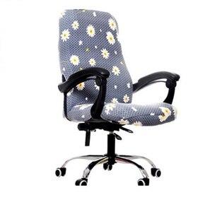 Чехлы на стулья из спандекса, растягивающиеся Чехлы для офисного компьютерного стула, вращающийся подъемник сидения, чехлы для сидений, съе...