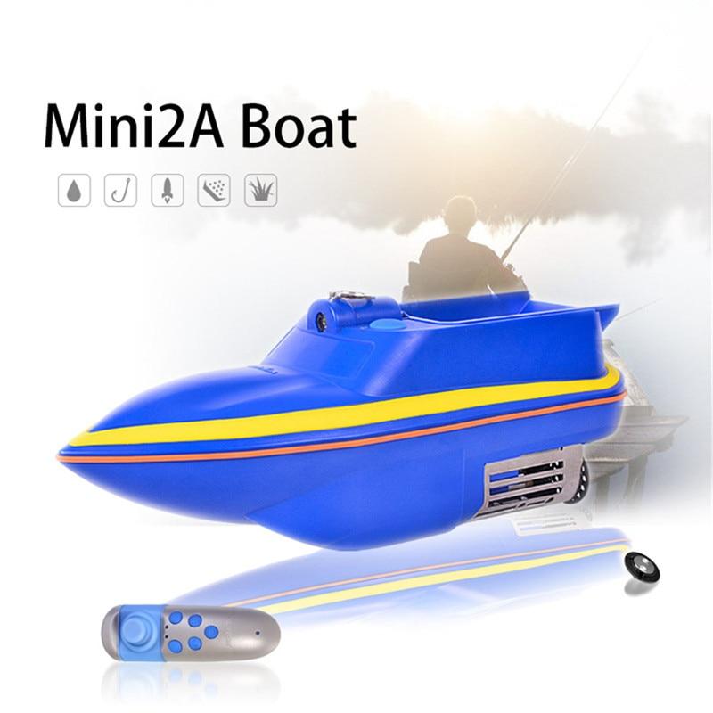 Boatman Mini 2A 2.4G Rc bateau Support leurre pêche appât trouveur et Double moteurs modèle télécommande bateau enfants jouets de plein air