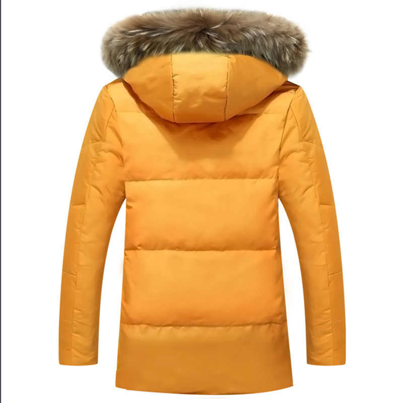 5XL Witte Eend Down Jas 2019 Vrouwen Winter Ganzenveren Jas Lange Wasbeer Bont Parka Warm Konijn Plus Size Bovenkleding WJM19