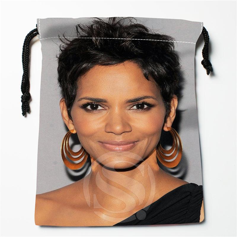 J&w17 New Halle Berry 02 Custom Printed  Receive Bag Compression Type Drawstring Bags Size 18X22cm W725&JYa17