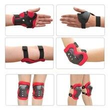 Best Price 6PCS Children Skateboard Roller Ice Skating Knee Elbow Bicycle Skateboard Wrist Protective Pad Kit Gear Set