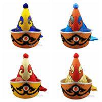 זכר כובע כובע מחודד למעלה מיעוט מונגולי chapeau כובע נסיך של שלב ריקוד מונגוליה sharp סוף פולק
